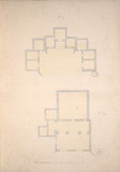 Ground Plans of Cave 8 and Cave 25, Ajanta